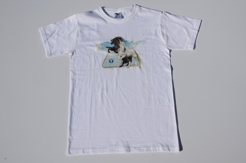 Tričko s motivem koní - dětské